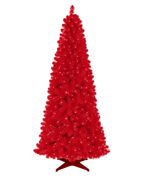 roter weihnachtsbaum artificial tree treetopia