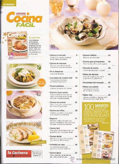 recetas de cocina revista lecturas lecturas cocina facil especial navidad 70 pl comprar