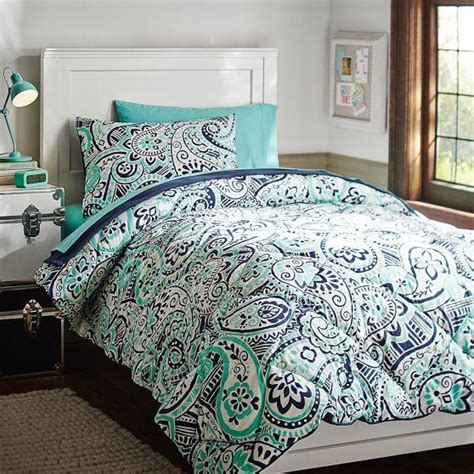paisley bed sets regan paisley deluxe bedding set from pbteen