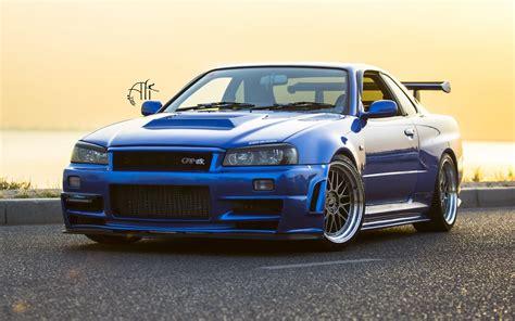 Gtr Car Hd Wallpaper by Nissan Gtr R34 Blue Car 4k Hd Wallpaper 4k Cars Wallpapers