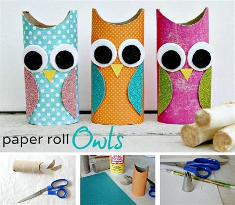 diy toilet paper roll crafts diy paper roll owls fabdiy