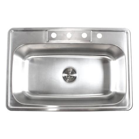 mount kitchen sinks 33 inch stainless steel top mount drop in single bowl