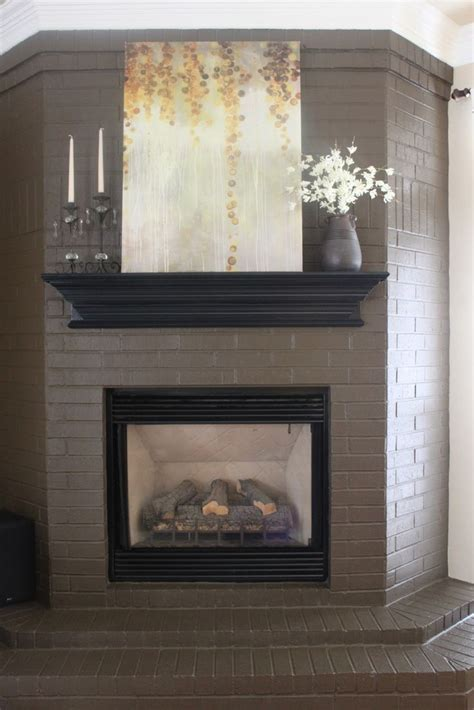 paint colors for fireplace 25 best ideas about painted brick fireplaces on