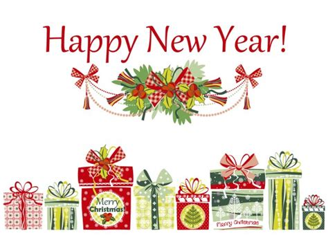 how to make a happy new year card happy new year card with presents vector free