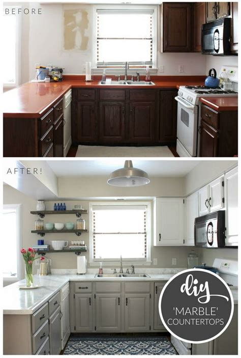 cheap kitchen makeover ideas before and after pretty before and after kitchen makeovers before and