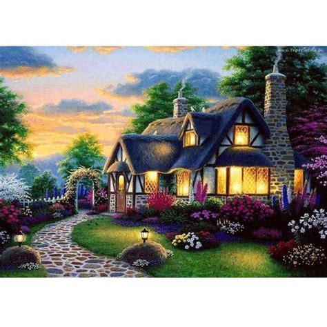 home decor au au diy 5d embroidery painting cottage forest