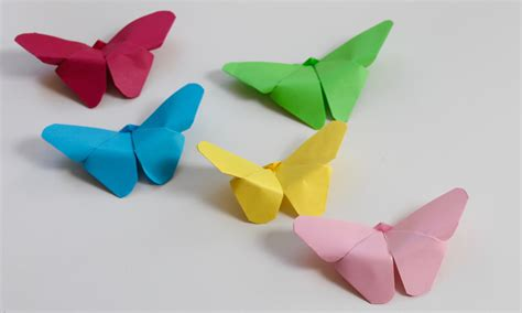 easy crafts with paper easy craft how to make paper butterflies doovi