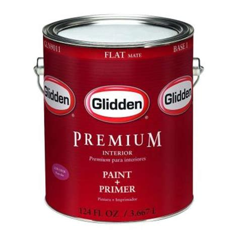 home depot 5 gallon interior paint glidden premium 5 gal flat interior paint gln9000 05 the home depot
