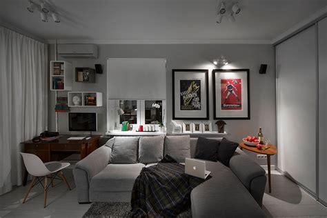 Open Concept Home Decorating Ideas small bachelor pad idea designed in a modern retro style