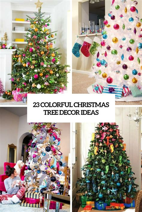 colorful tree decorations 23 colorful tree d 233 cor ideas shelterness