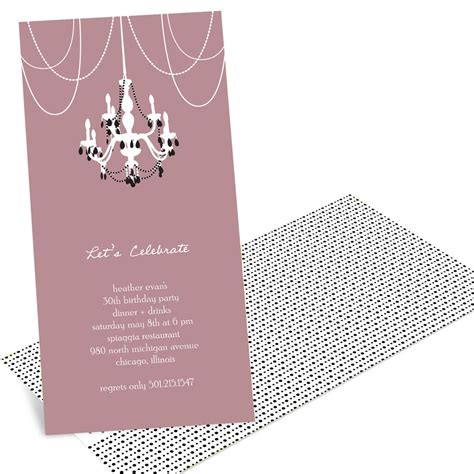 chic chandelier chic chandelier invitations pear tree