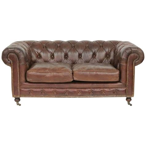 tufted brown leather sofa brown tufted leather chesterfield sofa for sale at 1stdibs