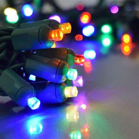 led lights multi color multi color led string light 50 lights