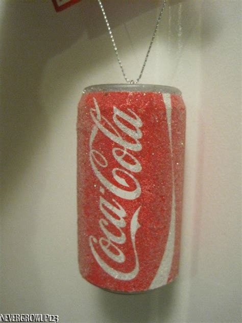soda can ornaments coca cola coke frosty soda pop can ornament nwt