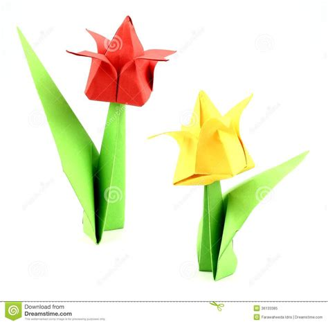 paper tulips origami origami tulip flower royalty free stock photo image