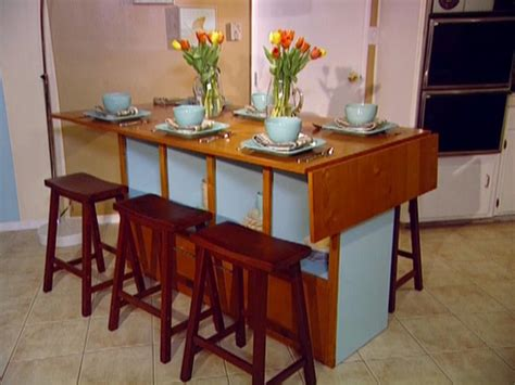 Kitchen Islands With Drop Leaf build a bar height dining table hgtv