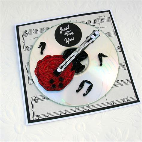 how to make musical greeting card paper quilling greeting card paper quilled guitar