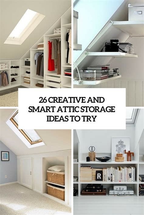 Wardrobes For Small Spaces 26 creative and smart attic storage ideas to try shelterness