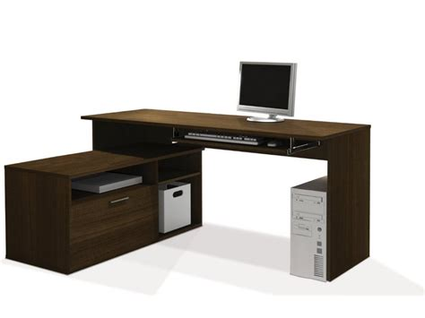 l computer desk l shaped wooden computer desk with cabinet decofurnish