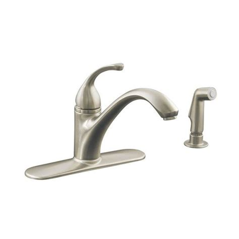 kohler forte pull out kitchen faucet kohler 10412 forte single kitchen pull out spray faucet lowe s canada