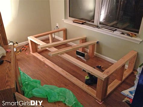 built in bed frame building the frame day bed window seat basement