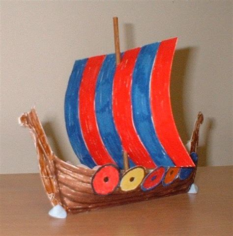 viking crafts for to make template for building a viking longship home school