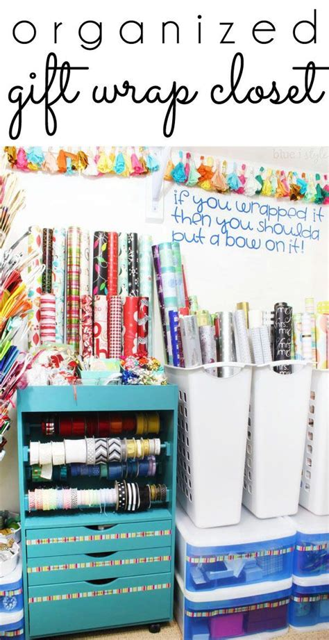 organizing card supplies 25 best ideas about gift wrap storage on