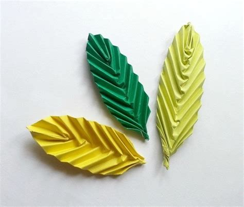 origami with leaf origami leaf 183 how to fold origami 183 papercraft on cut out