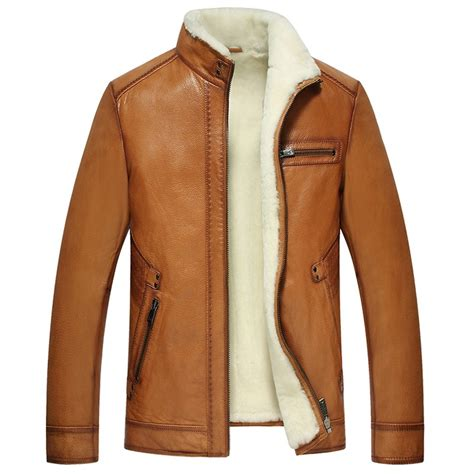 leather and shearling jacket shearling lined leather jacket cw857070