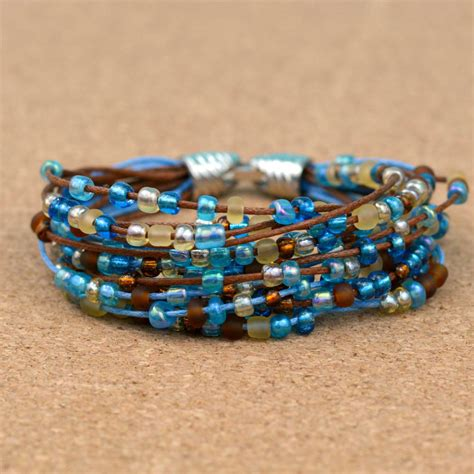 simple beading projects for beginners easy boho beaded bracelet happy hour projects