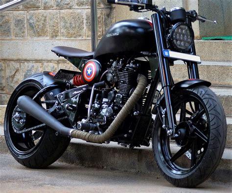 Modified Bikes Bangalore by Bulleteer Customs Americana Modified Royal Enfield
