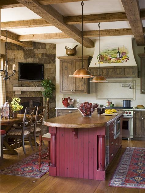 kitchen island rustic the color hgtv