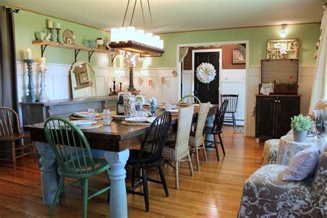 Farmhouse Dining Room Decorating Ideas Sublime Farmhouse Dining Table Decorating Ideas Images In
