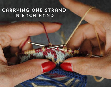 carrying colors in knitting victory beret intro tips for stranded knitting by gum