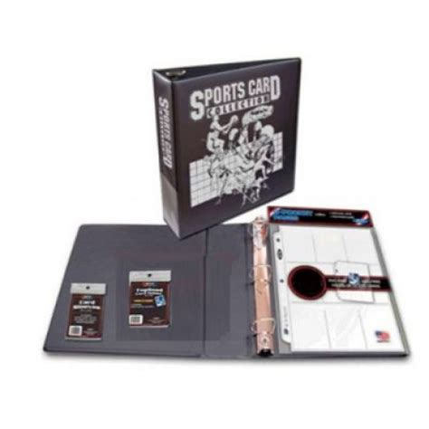 card starter kit bcw sports card collector starter kit album pages