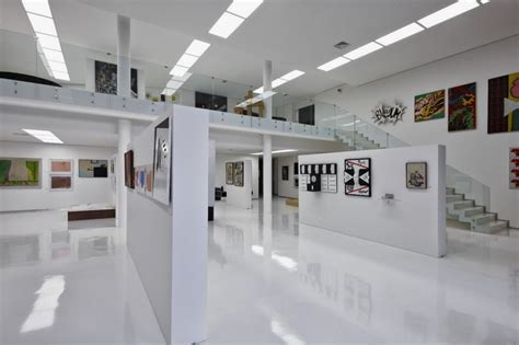 gallery design big residence with gallery in lower level je house