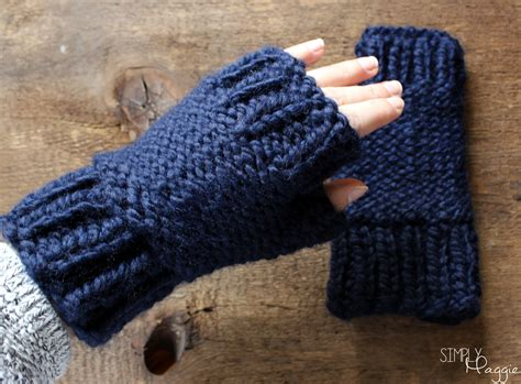 Chunky Fingerless Mittens Pattern Simplymaggie