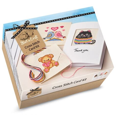 card kits start a craft cross stitch card kit house of crafts from
