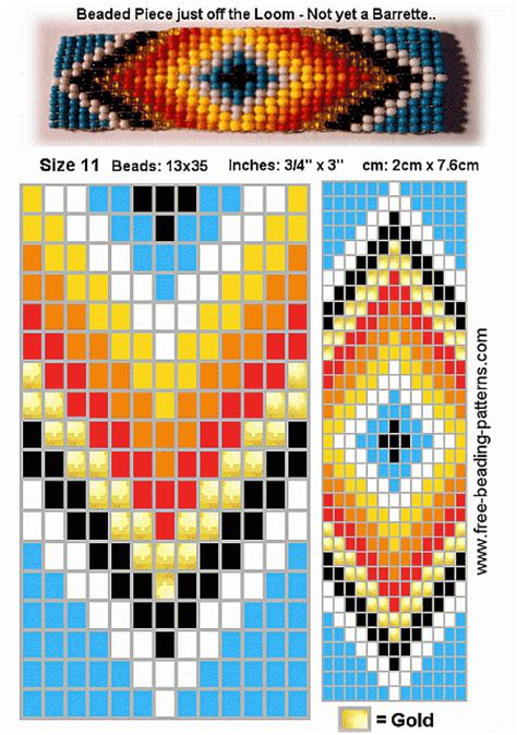 free american beading patterns free beading pattern barrette blue 01