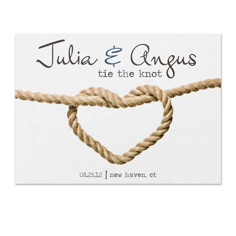 tie the knit tie the knot save the date sle