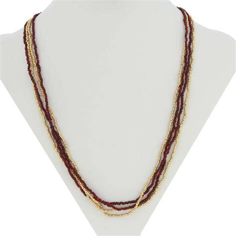 multi strand bead necklace murano necklaces multi strand seed bead necklace gold