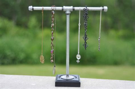 how to make jewelry stand fabulously easy industrial necklace holder recipe holder