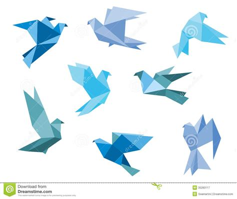 pigeon origami paper pigeons and doves royalty free stock photography