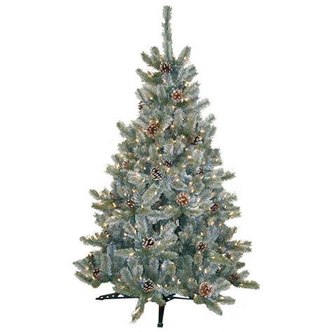 4 5 pre lit tree general foam 4 5 ft pre lit siberian frosted pine