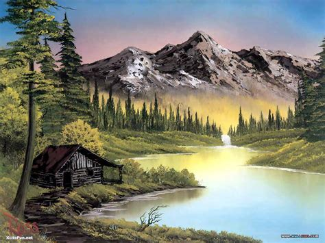 bob ross paintings original for sale adolf vs bob ross who you like artwork showdown