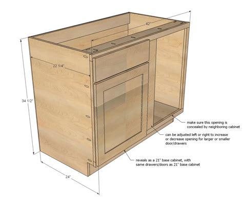 corner kitchen base cabinet white 42 quot base blind corner cabinet momplex