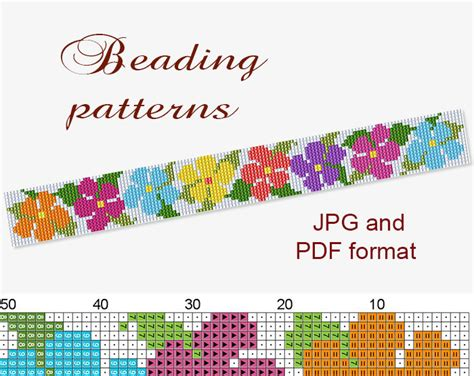 beading patterns pdf peyote bracelet pattern peyote pattern loom pattern beaded