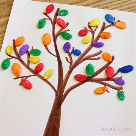 drawing crafts for fall for using colorful pumpkin seeds