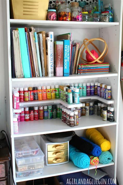 and crafts organizer craft room organizer spicy shelf a and a glue gun