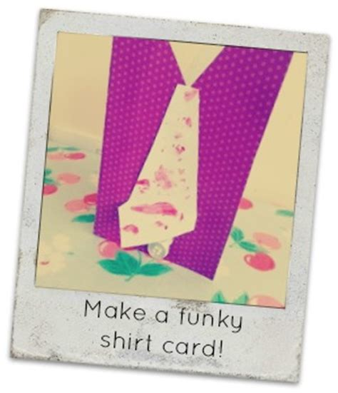 make your own fathers day cards make your own funky shirt card for this fathers day